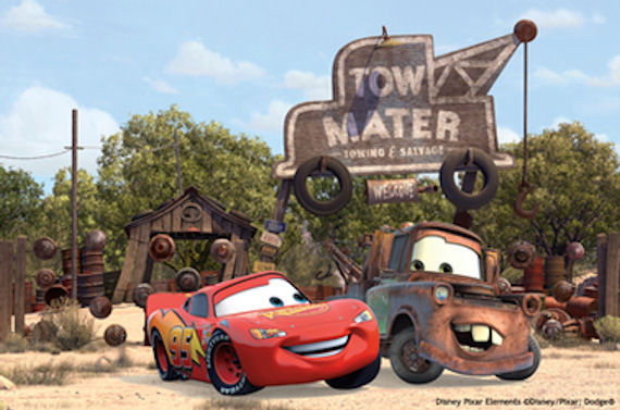 Disney Cars Tow Mater Mural - Wall Sticker Outlet