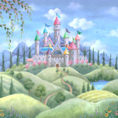 Castle Dreams Peel and Stick Mural