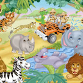 Safari Adventures Peel and Stick Mural