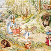 Beatrix Potter Walk in Woods Peel and Stick Mural