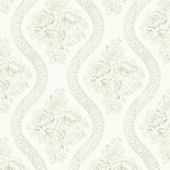 Magnolia Home Coverlet Floral White Wallpaper