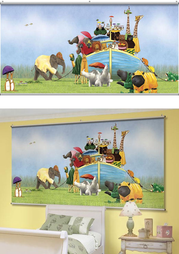 Noahs Ark  Wall Minute Mural - Wall Sticker Outlet