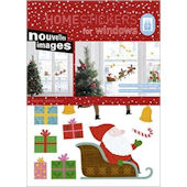 Nouvelles Images Santa Claus Window  Stickers