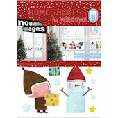 Nouvelles Images Elves Gifts Window  Stickers