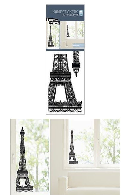 Nouvelles Eiffel Tower Window Cling Sticker SALE - Wall Sticker Outlet