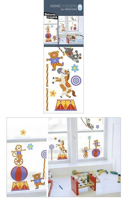 Nouvelles Circus Window Cling Sticker SALE - Wall Sticker Outlet