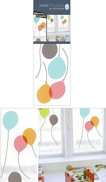 Nouvelles Balloons Window Cling Stickers  - Wall Sticker Outlet