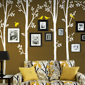 Spring Tree With Birds Wall Decal SALE