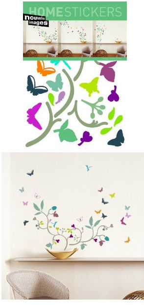 Nouvelles Images Poppy Blossom Wall Stickers - Wall Sticker Outlet