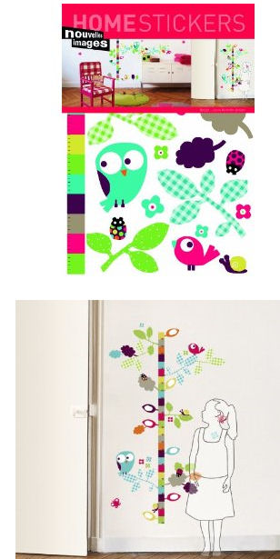 Nouvelles Images Birdy Growth Chart Wall Stickers - Wall Sticker Outlet