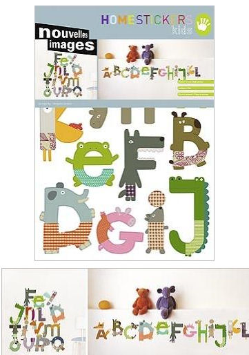 nouvelles images animal alphabet wall stickers circus and animals nouvelles images wall stickers