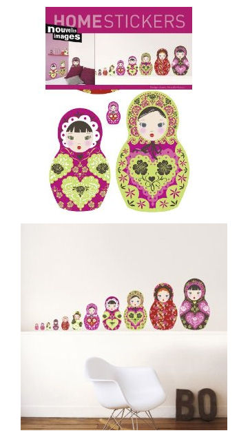 Nouvelles Images Russian Dolls Wall Stickers - Wall Sticker Outlet