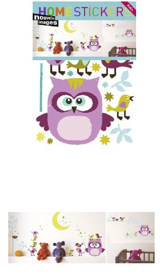 Nouvelles Images Owl and Co Wall Stickers - Wall Sticker Outlet