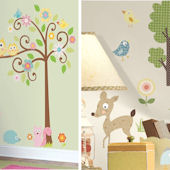 Woodland Animals and Scroll Tree Room Package