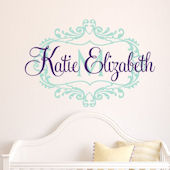 Custom Princess Scroll Name Wall Decal