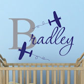 Custom Airplane Name Wall Decal