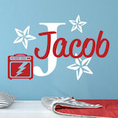 Custom Music Star Name Wall Decal