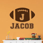 Custom Football Boys Name Wall Decal