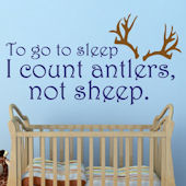 I Count Antlers Boys Custom Wall Decal