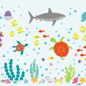 Happy Under The Sea Wall Decals