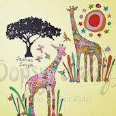 Charlotte and Suz Giraffe Peel and Place Decals