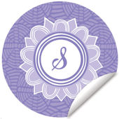 Blossom Monogram Lavender And White Decal