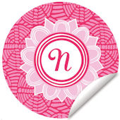 Blossom Monogram Pink And White Wall Decal