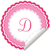 Sweet Monogram Pink And White Wall Decal