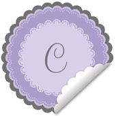 Sweet Monogram Lavender Wall Decal