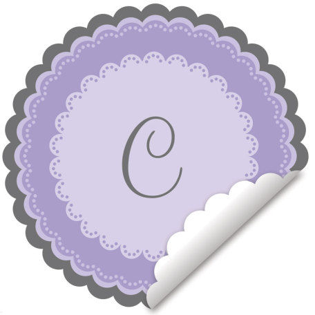 Sweet Monogram Lavender Wall Decal - Wall Sticker Outlet