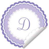 Sweet Monogram Lavender And White Decal