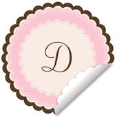Sweet Monogram Pink Wall Decal