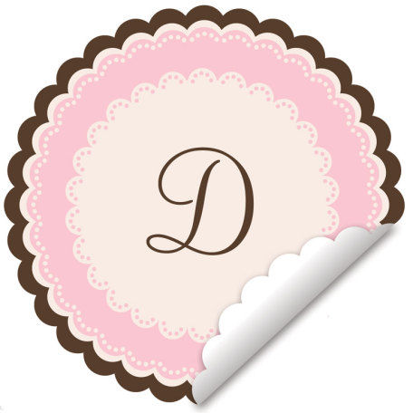 Sweet Monogram Pink Wall Decal - Wall Sticker Outlet