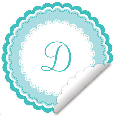 Sweet Monogram Turquoise And White Wall Decal - Wall Sticker Outlet