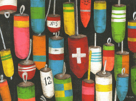 Hanging Buoys Murals That Stick - Wall Sticker Outlet