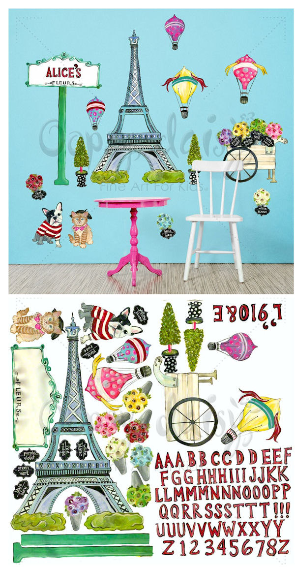 Jaime Paris Peel and Place Decals - Wall Sticker Outlet