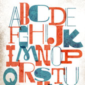 Alphabet Mash Up Posters That Stick