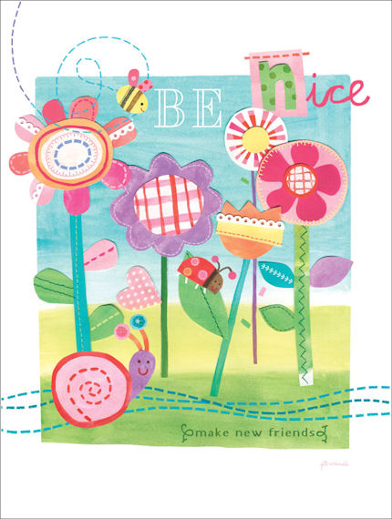 Be Nice Posters That Stick - Wall Sticker Outlet