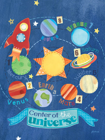 Center Of The Universe Posters That Stick - Wall Sticker Outlet