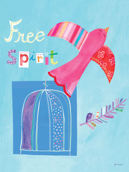 Free Spirit Posters That Stick - Wall Sticker Outlet