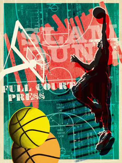 Full Court Press Posters That Stick - Wall Sticker Outlet