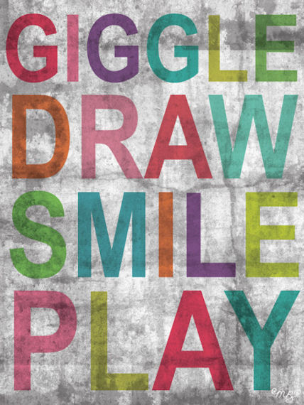 Inspire Me Giggle Posters That Stick - Wall Sticker Outlet