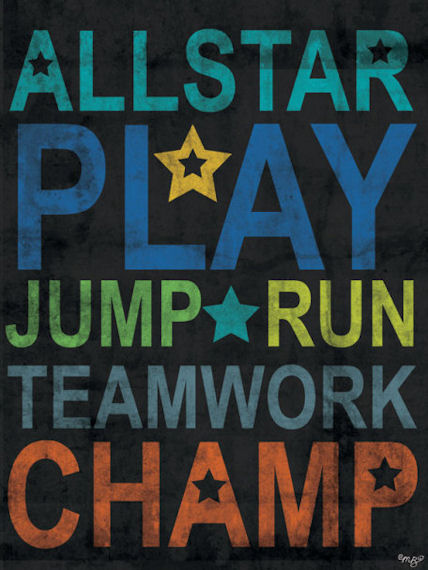 Inspire Me All Star Posters That Stick - Wall Sticker Outlet