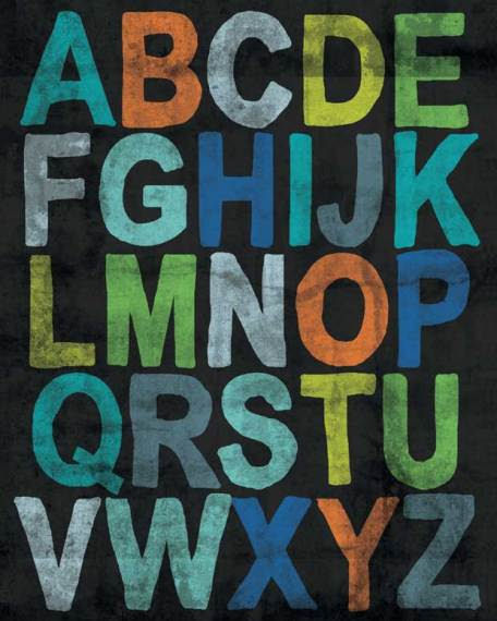 Inspire Me Alphabet Boy Posters That Stick - Wall Sticker Outlet