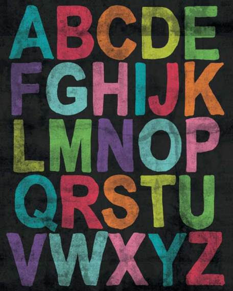 Inspire Me Alphabet Girl Posters That Stick - Wall Sticker Outlet