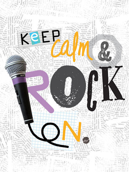 Keep Calm And Rock On Posters That Stick - Wall Sticker Outlet