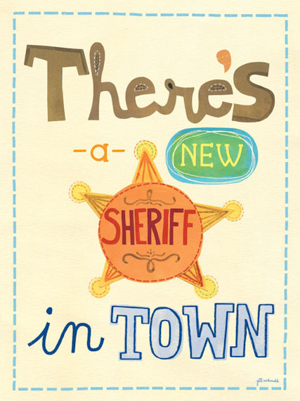 New Sheriff Posters That Stick - Wall Sticker Outlet