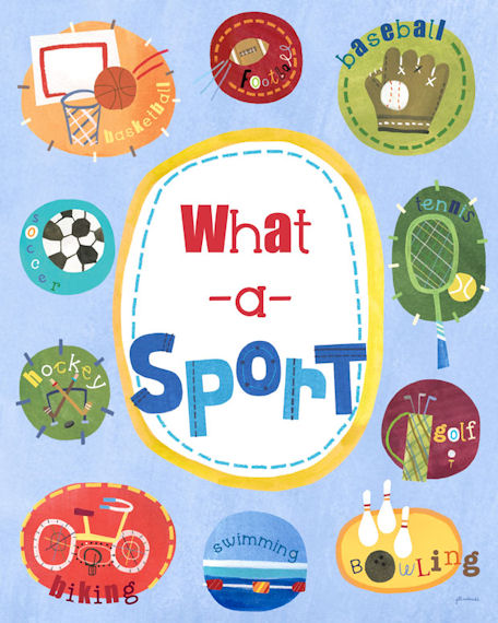What A Sport Posters That Stick - Wall Sticker Outlet
