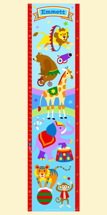 Olive Kids Big Top Growth Chart Decal - Wall Sticker Outlet