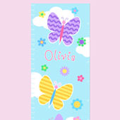 Olive Kids Butterfly Garden Growth Chart Decal